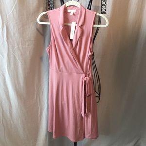 New Wrap Sleeveless Dress Pink Large.